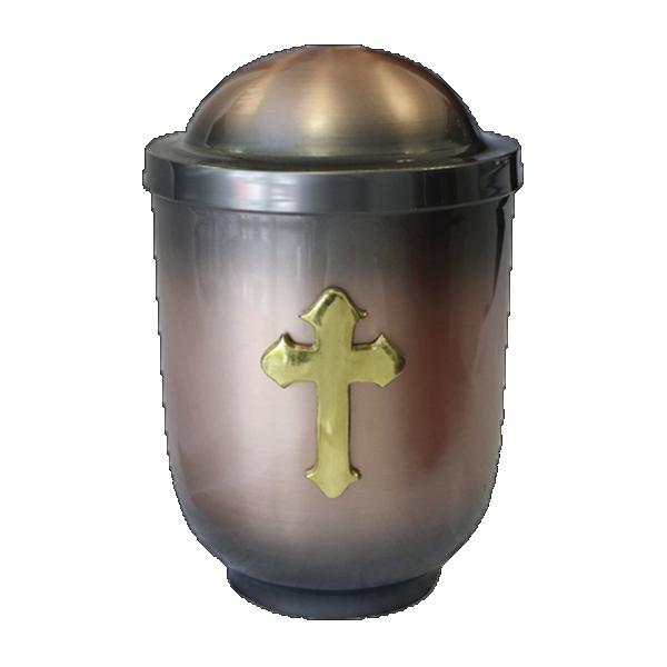 Urna bakar sa zlatnim križem