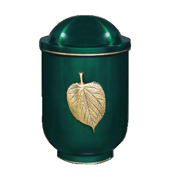 Urna zelena sa mesing listom