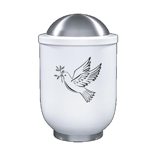 Urna bijela sa golubicom