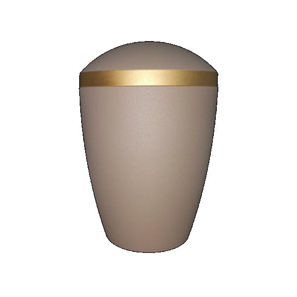 Urna BIO siva mat sa zlatnom trakom