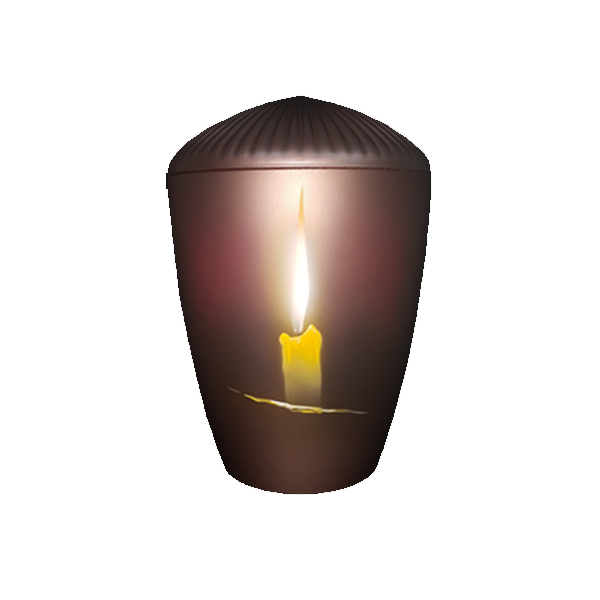 Urna BIO smeđa sa svijećom